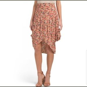 free people floral asymmetrical skirt Size 0